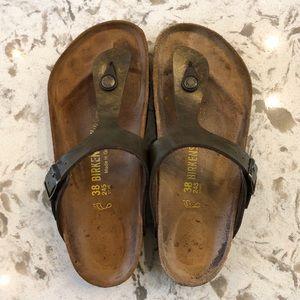 Gizah Birkenstock Sandals Bronze Size 38